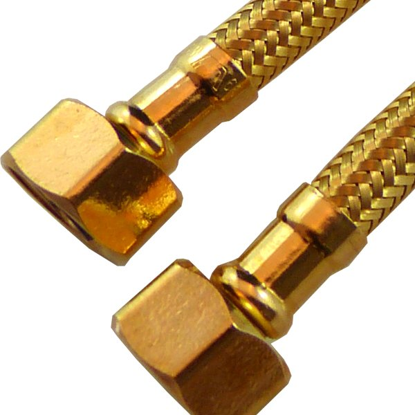 gold flexible water connectors